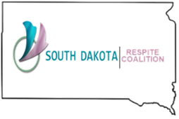 South Dakota state outline with SD Respite Coalition